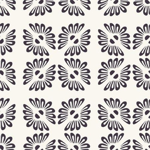 Seamless vector pattern. Hand drawn mosaic tile shapes.