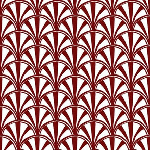 Scallop - red and white
