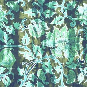 mendhi floral_moss vintage