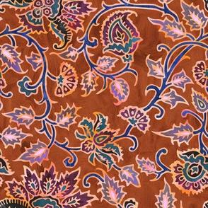 mendhi floral_rust