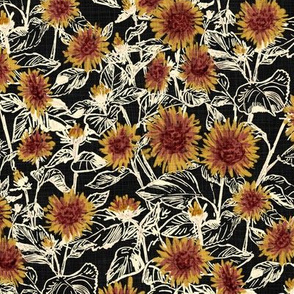 "Blazing Sunflower Meadow (vanilla-black) 10"""