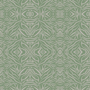 Tribal Bohemian moss green