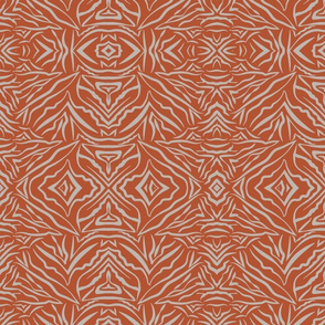 Tribal Boho Burnt Orange