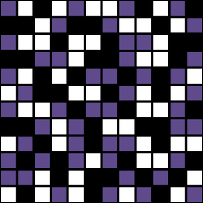 Jumbo Mosaic Squares in Black, Ultra Violet, and White