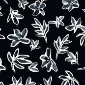 "Noir Floral Petals (10"")"