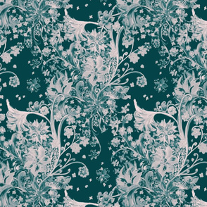 painted floral honeybird allover pattern SF