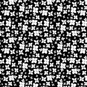 BLACK _ WHITE 2 DOODLE FLOWER REPEAT SF