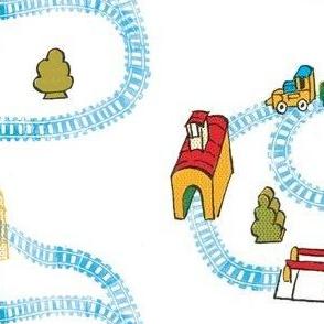 train track round and round