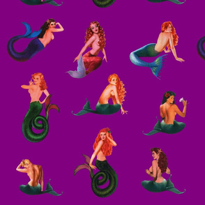 Mermaids on Purple