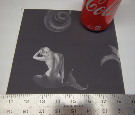 Mermaids Grayscale on Black