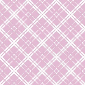 White on Lavender-Purple Tartan Plaid