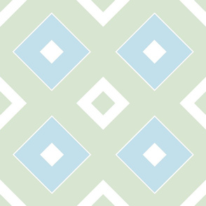 Geometric green&blue_025a