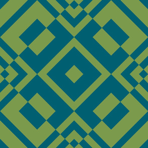 Geometric blue&green_027