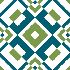 Geometric blue&green_028