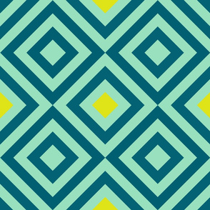 Geometric green&yellow&blue_033