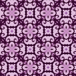 tile trellis purple SF