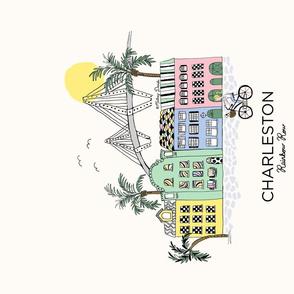 Charleston tea towel
