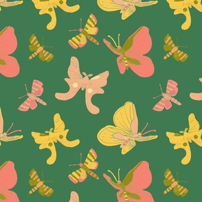 Bright Butterflies - Green