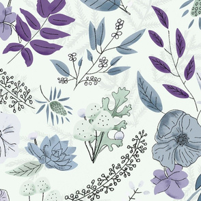 Bright Winter Florals - Purple