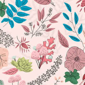 Bright Winter Florals - Pink