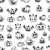 funny halloween pumpkins on white