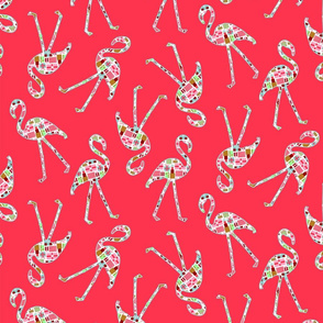 Christmas Flamingo Silhouettes |Christmas Gifts|HOT PINK|Renee Davis
