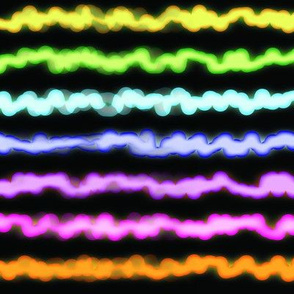 Neon squiggles stripe