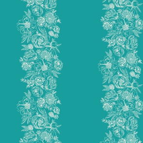 cc pattern just floral stripes egg on teal