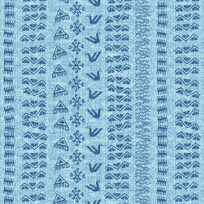 rows_blanket_sky_blue