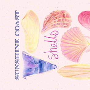 Sunshine Coast Shells tea towel