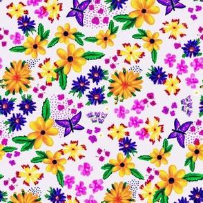Elizabeth Chintz Floral Blooms -Lavender