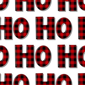 Buffalo Plaid Ho Ho Ho - small scale
