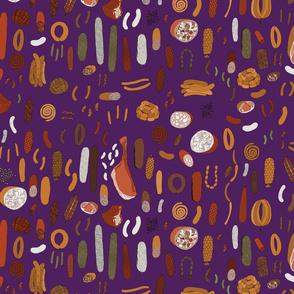 Charcuterie on purple