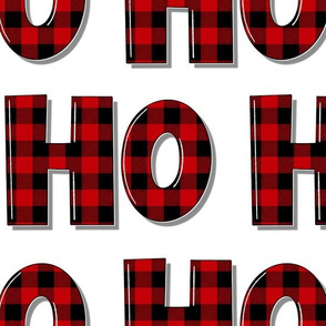 Buffalo Plaid Ho Ho Ho - medium scale