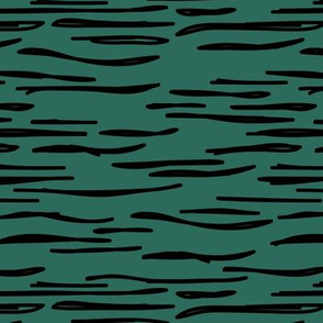 Abstract waves zebra stripes animal print or ocean wave sea life design autumn winter forest hunter green