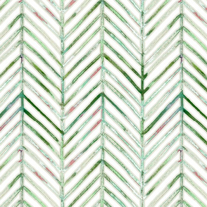 pine chevron - greens