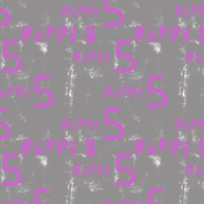 Happy 5 Schrift