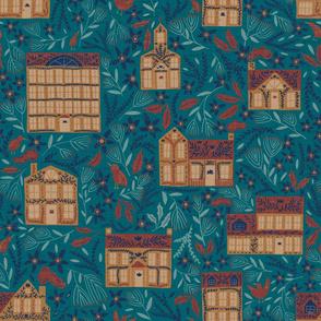 Gingerbread Village - Teal