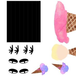 Ice Cream Kid Stuffy
