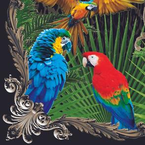 Parrots Shirt Panel