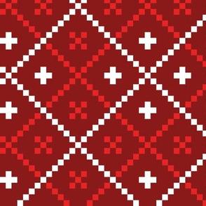 Christmas folk pattern