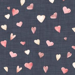 Ombre Watercolor Hearts // Trout Linen