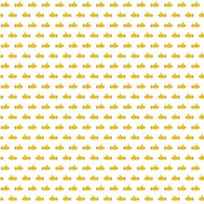 yellow submarine on white