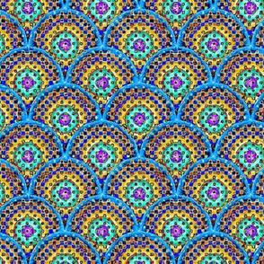 Confetti Rings - Yellow, Blue