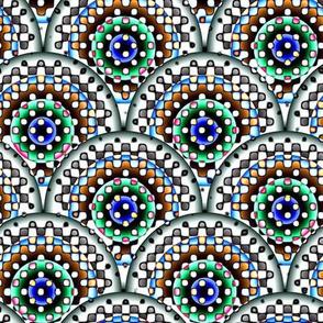 Confetti Rings - Green, Blue
