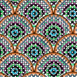 Confetti Rings - Orange, Green
