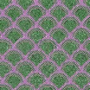 Diamond Swirl - Green, Purple