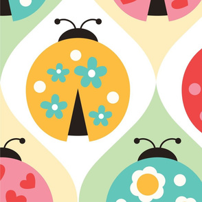 Whimsical Ladybugs Juvenile ~ Wallpaper