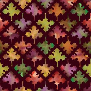Fall Maple Leaf on Maroon by ArfulFreddy