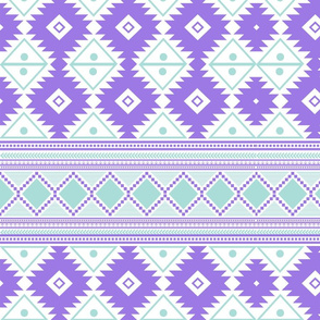 Mint and purple aztec